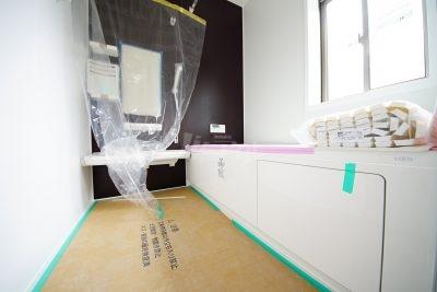 1坪タイプのバスルームはお子様と一緒に入っても余裕の広さです(*^_^*)(1号棟)