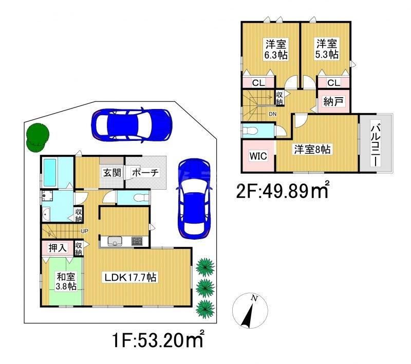 ◆FIT 糸島市浦志2丁目1期 全1棟(2021年11月上旬完成予定)◆ 1号棟