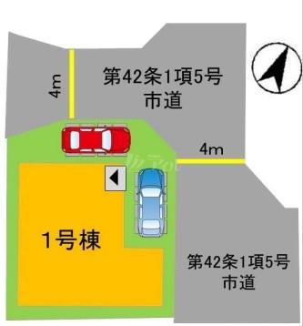 ◆FIT 糸島市浦志2丁目1期 全1棟(2021年11月上旬完成予定)◆ - 区間図