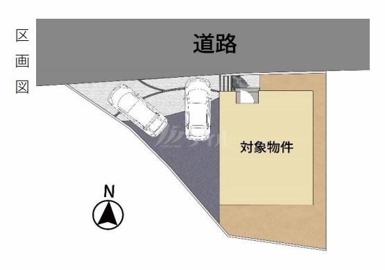 ◆kurumie 糸島市前原駅南 全1棟(2021年11月中旬完成予定)◆ - 区間図