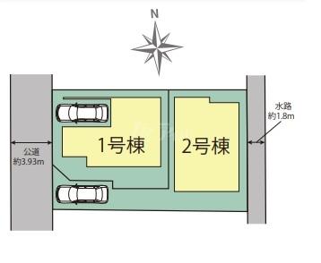 ◆Blooming Garden 早良区原4丁目 全2棟(2021年9月完成)◆ - 区間図