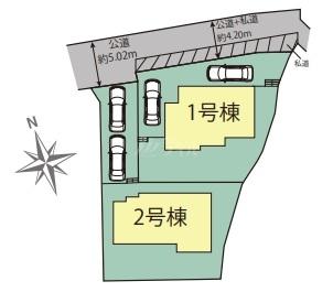◆Blooming Garden 南区柏原1丁目 全2棟(2021年9月完成)◆ - 区間図