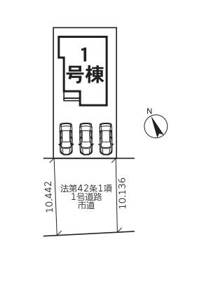 ◆LIGNAGE 糸島市篠原西21-1期 全1棟(2022年1月下旬完成予定)◆ - 区間図