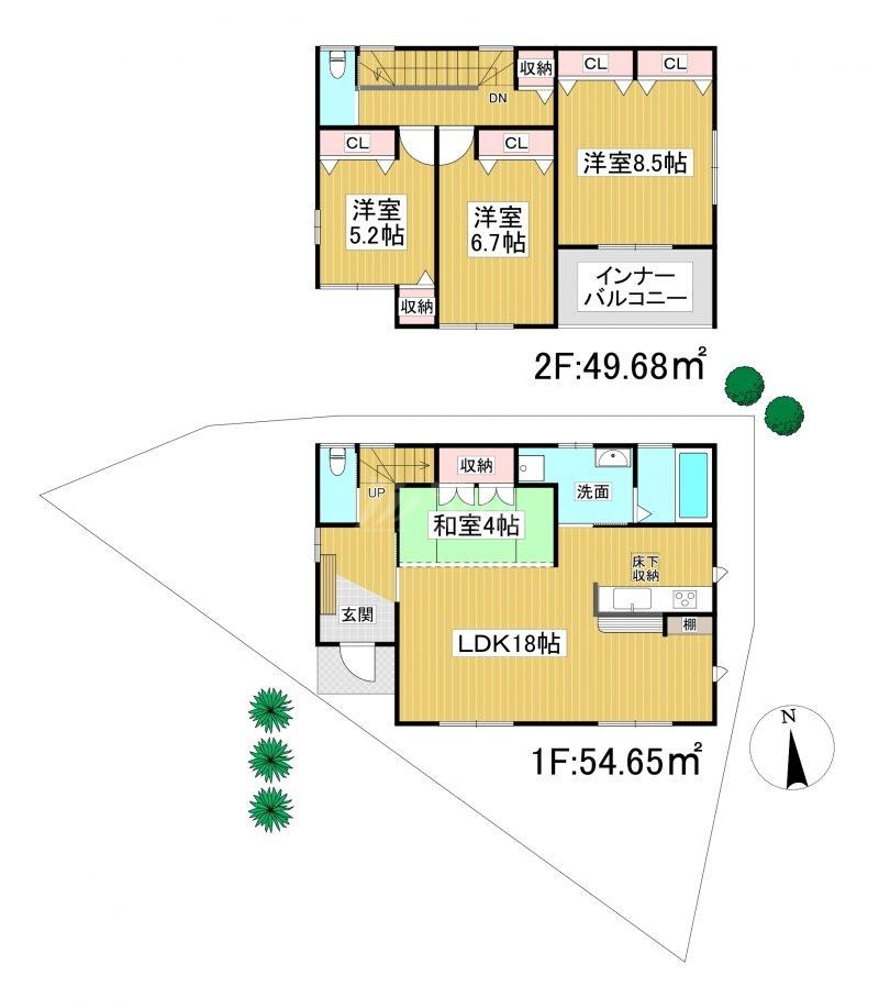 ◆KEIAI FiT 糟屋郡宇美町宇美中央3期 全2棟(2021年10月完成予定)◆ 1号棟