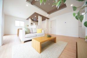 リビングは広々の18.5帖。家具の配置を考えるのもワクワクしますね(1号棟)