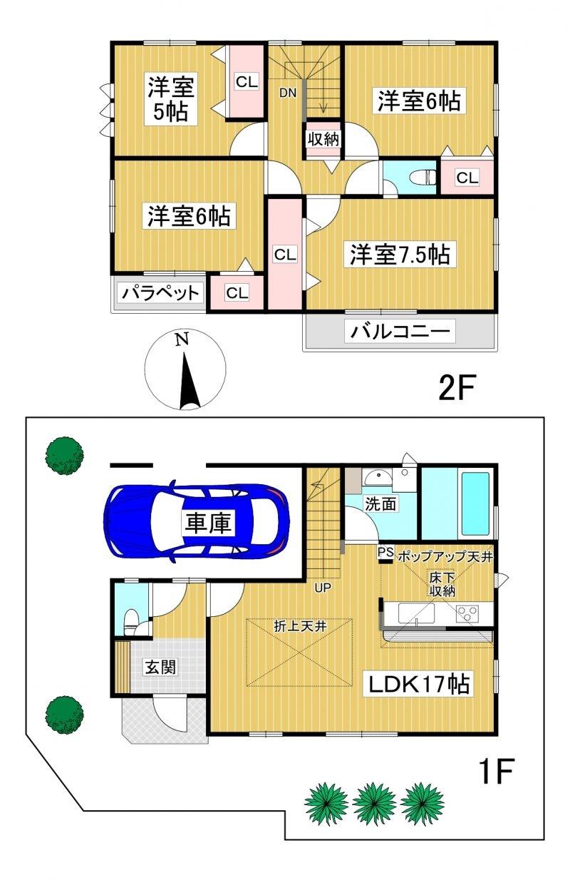 ◆Blooming Garden 早良区原4丁目 全2棟(2021年9月完成)◆ 1号棟