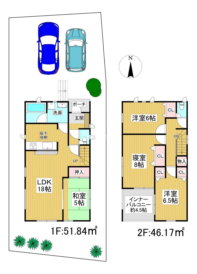◆Cradle garden 南区桧原第5 全3棟(2021年12月下旬完成予定)◆ 1号棟